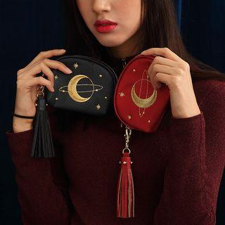 Moon Embroidered Purse