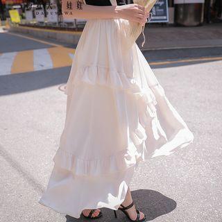 Ruffled Maxi Jumper Skirt