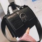Croc Grain Satchel Bag