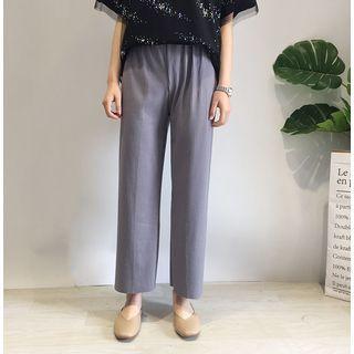 Wide-leg Ripped Pants