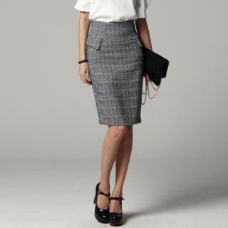 Zip-back Pencil Skirt