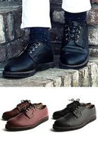 Faux-leather Lace-up Oxfords