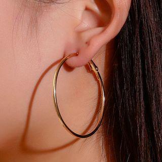 Set Of 12 Pairs: Hoop Earring