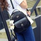 Set: Faux Leather Bow Accent Backpack + Crossbody Bag + Cardholder