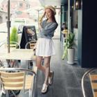 Linen Elastic-waist Shorts