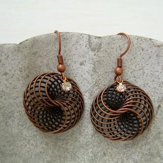 Copper Storm Earrings Copper - One Size