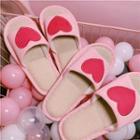 Heart Applique Slippers