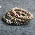 Copper Skull Braided Rope Bracelet