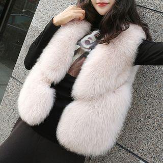 Faux Fur Buttoned Vest
