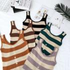 Striped Convestable Slim-fit Tank Top