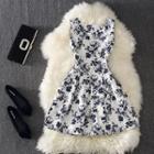 Floral Print Linen Cotton Dress