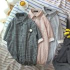 Check Short-sleeve Polo Shirt