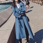 Belt-waist Long Coat
