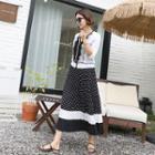 Pleated Polka-dot Skirt