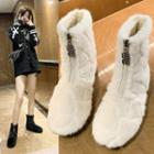 Zip-front Ankle Snow Boots