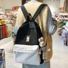 Rabbit Brooch Cotton Backpack