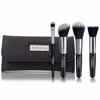 Aesthetica Cosmetics - 4 Piece Contour Brush Set With Pouch 4 Brushes Set
