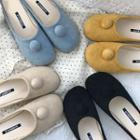 Button Accent Flat Mules