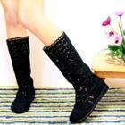 Crochet Tall Boots