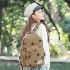 Canvas Star Printed Backpack