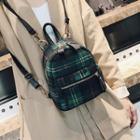 Plaid Fleece Backpack