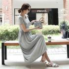 Drawstring-waist Maxi Dress