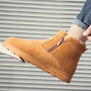 Side-zip Short Snow Boots