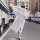 Long-sleeve Knit Cardigan White - One Size