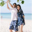 Couple Matching Pattern Bikini / Cover-up Dress / Beach Shorts / Set
