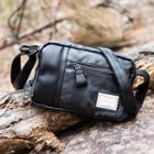 Faux Leather Crossbody Bag Camouflage Black - One Size