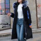Furry-trim Hood Padded Coat
