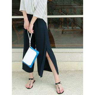 Slit-side Wide-leg Pants