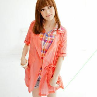 Drawstring-waist Jacket
