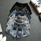 Velvet Drawstring Shorts