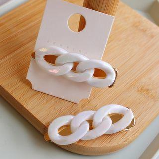 Acrylic Chain Hair Clip White - One Size