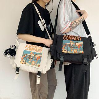 Cartoon Print Nylon Messenger Bag