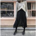 Dotted A-line Organza Skirt