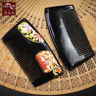 Floral Print Hair Comb As Shown In Figure - One Size