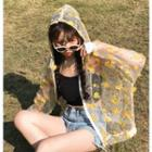 Embroidered Flower Hooded Light Jacket