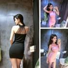 Plain Strappy Back Sleeveless Dress