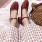 Patent Chunky-heel Mary Jane Pumps