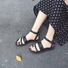 Toe-ring Ankle Strap Sandals