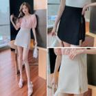 Zipped Mini Pencil Skirt