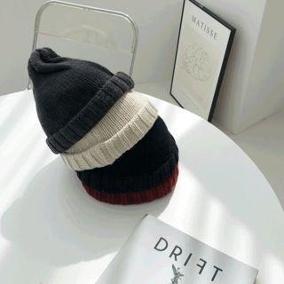 Ribbed-trim Knit Beanie