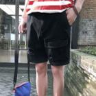 Distressed Plain Shorts