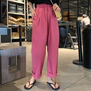 Crop Wide Leg Pants Rose Pink - One Size