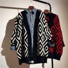 Pattern Cardigan Black - One Size