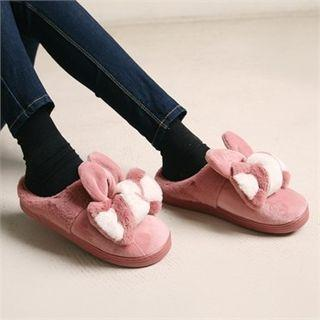 Bow Furry Slippers