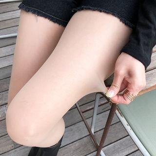 Set Of 2: Sheer Tights Nude - One Size