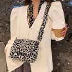 Patterned Fluffy Crossbody Bag